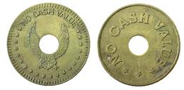 02109 GETTONE TOKEN JETON GAMING MACHINE EAGLE NO CASH VALUE HOLED - United Kingdom