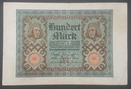 EBN12 - Germany 1920 Banknote 100 Mark Pick 69b #d.18017090 - [ 3] 1918-1933 : Weimar Republic