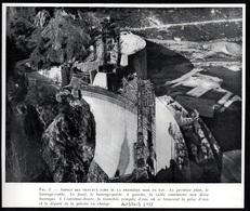 1951  --  TRAVAUX DE CONSTRUCTION DU BARRAGE D AUSSOIS   3Q587 - Non Classificati