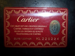 Cartier (trading Card, Tessera, Key, Gift Card, Pubblicità, Buono... - Gift Cards