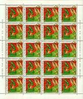 Luxembourg Feuille De 20 Timbres à 0,74 Euro  Recherche En Biologie 2001 - Full Sheets