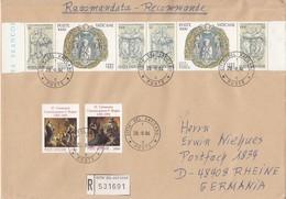 Vaticano - 1994 - Raccomandata Per L'estero - Vatican