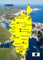 Corsica Island Map France Corse New Postcard Korsika Landkarte AK - Frankrijk