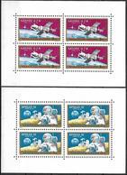 1964 - COSMOS - SOYUZ 6-7-8 & APOLLO 12 - Michel Nr. 2575-2576A - 2 BLOCS = 12.00 € - Hungary