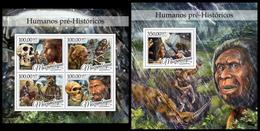 Mozambique 2016 PrehistoricHuman Klb + S/s MNH - Prehistory