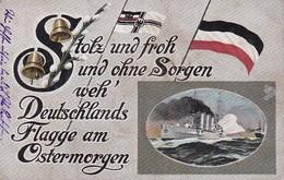 AK Stolz Und Ohne Sorgen Weh' Deutschlands Flagge Am Ostermorgen - Kriegsmarine - II B. Bay Res Inf R 14 (39190) - Weltkrieg 1914-18
