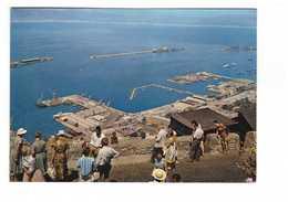 Gibraltar Tourists Photographing Apes Upper Rock Touristes Photographiant Port  + Timbre 2 Timbres Cachet 1967 - Gibraltar