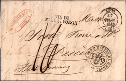 10 - TOSCANA - PREFILATELICA DA LIONE A PESCIA 1845 - Italy