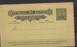 E507-EL SALVADOR-1893-POSTCARD  -UNUSED - Salvador