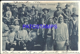 107030 CHILE COSTUMES JORNALEROS YEAR 1920 POSTAL POSTCARD - Chile