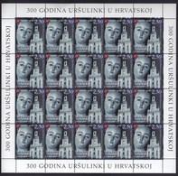 Croatia 2003 / 300 Years Of Ursulines In Croatia / Mother Of Mercy / Sculpture Detail / MINT Stamps Sheet - Croatie