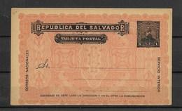 E508-EL SALVADOR-1893-POSTCARD  -UNUSED - Salvador