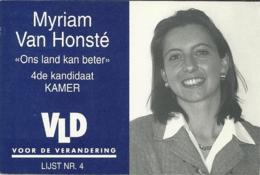 Elections Verkiezingen 1999 Brasschaat Myriam Van Honsté VLD - Hommes Politiques & Militaires
