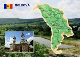 Moldova Country Map New Postcard Moldawien Landkarte AK - Moldawien (Moldova)