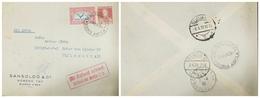 O) 1930 ARGENTINA, WING CROSS THE SEA SC C16 1.08p -JOSE DE SAN MARTIN SCT 333 30c, AIRMAIL - MIT LUFTPOFT BEFORDERT-BER - Covers & Documents