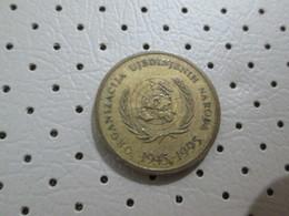 CROATIA 10 Lipa  1945 1995 Anniversary Coin  Croatia In UN United Nations # 4 - Croatia