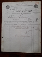 Ancienne Facture. Distillateurs Parfumeurs. Vallauris. Gazan Freres. 1886 - France