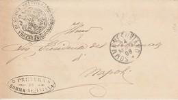 Somma Vesuviana. 1908. Annullo Grande Cerchio SOMMA VESUVIANO + Annulli PRETURA, Su Franchigia Con Testo - 1900-44 Vittorio Emanuele III