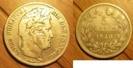 Louis-Philippe - 5 Francs 1840W - France