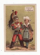 Chromo   CHOCOLAT COMPAGNIE FRANCAISE     Femme Et Militaire    France - Chocolat