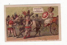 Chromo   CHOCOLAT COMPAGNIE FRANCAISE     Femme En Charrette - Chocolate