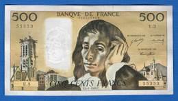500 Fr  Du  4/1/1968   U3 - 1962-1997 ''Francs''