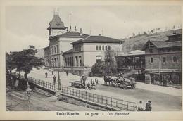 Esch-Alzette   -   La Gare    -Der Bahnhof   Chevaux Avec Charues  ( Papiers En Gros P. Houstraas, Luxembourg-Gare ) - Autres