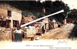 CREIL - Les Tufs (Maison Souterraine) - Carte Colorée Et Animée - Creil
