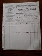 L12/71 Ancienne Facture. Golfe Juan. Matieres Premieres Pour Parfumeurs. Gras Freres. 1909 - France