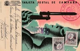 MADRID 1937 TARJETA CAMPAÑA HOSPITAL MILITAR N°16    ELA91 - 1931-Today: 2nd Rep - ... Juan Carlos I