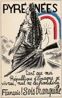 ESPAGNE GUERRE CIVILE CARTE POSTALE PROPAGANDE ANTIFASCISTE  ELA94 - 1931-50 Briefe U. Dokumente