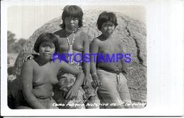107066 PARAGUAY COSTUMES NATIVE SEMI NUDE POSTAL POSTCARD - Paraguay