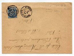 1898--Lettre De RENNES-35 Pour VITRE-35--type Sage--2 Cachets D'arrivée (dates Différentes) - Storia Postale