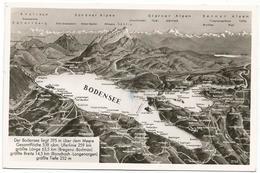 W879 Bodensee - Carta Geografica Map Carte Geographique / Viaggiata 1953 - Carte Geografiche