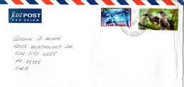 COOK  ISLANDS,   Letter,  Bird, Ocean  Sunfish    /     ÎLES  COOK,    Lettre,  Oiseau,  Poisson-lune - Sperlingsvögel & Singvögel