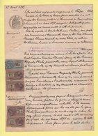 Fiscaux - Timbres De Copies - Acte Notarial - Chaumont En Vexin - Oise - 1895 - Revenue Stamps