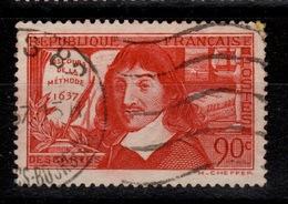 """YV 342 Oblitere Descartes """"DE"""" - France"""