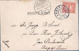 Netherlands, Grootrond Postmark Ammerzoden, 22 JUL 10, To Koog Zaandijk 4, Langebalk Postmark, Voorstraat Picturecard - Periode 1891-1948 (Wilhelmina)