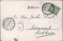 Netherlands, Grootrond Postmark Echternerbrug 11 SEP 07, To Enkhuizen Picturecard Wesel - Periode 1891-1948 (Wilhelmina)