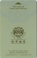 Carte Clé Hôtel Macau Macao : Hotel Fortuna - Cartes D'hotel