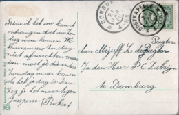 Netherlands, Grootrond Postmarks Oostkapelle, 21 JAN 11, To Domburg, Picture Postcard - Periode 1891-1948 (Wilhelmina)