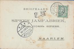 Netherlands, Grootrond Postmark Rozenburg, 5 NOV 09 To Haarlem, Postcard - Periode 1891-1948 (Wilhelmina)