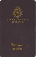 Carte Clé Hôtel Macau Macao : Legend Palace - Cartes D'hotel