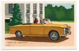 CPSM Cabriolet 403 Peugeot - Publicité