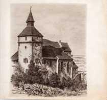 Reproduction Lithographie De J.Klippstiehl:Dambach Chapelle St Sébastien - Vieux Papiers
