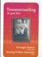 NL Troonswisseling 2013 Zilveren Zegel Excl. € 2 Munt - Non Classificati