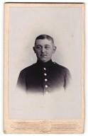 Fotografie C. Wolff, Neustrelitz, Portrait Soldat In Uniform - Personnes Anonymes
