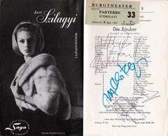 (9 Scans) RRR! BURGTHEATER Programmheft 1965 Mit 4 Orig.Autogramme Von Schauspielern; Burgtheater Wien, Kompl ... - Autogramme & Autographen