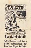 Werbekarte Mit 2 H Vignette Für Die Armen Gebirgskinder - Spezialgeschäft Mitzi Lancer Wien VII F.Bekleidung U.Ausr ... - Werbung