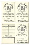 33 Bordeaux Carte Publicitaire  La Farine Larousse  Bordeaux Lot 4 Cartes - Cartes